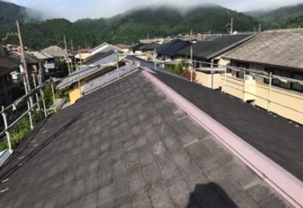 屋根のカバー工法(重ね葺き工事)前の画像