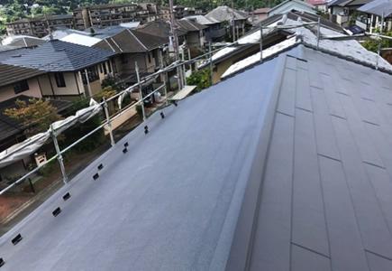 屋根のカバー工法(重ね葺き工事)後の画像