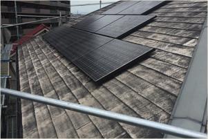 カラーベスト(スレート瓦)の屋根塗装工事前