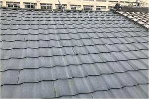 屋根のウレタン塗装前