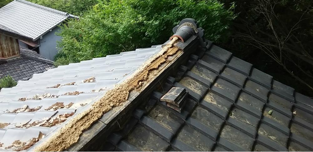 屋根補修工事施工前