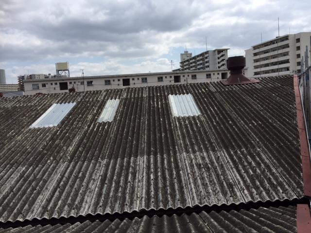 既存屋根の大波スレート